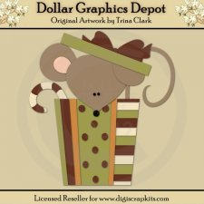 Christmas Mouse 1 - Cutting Files / Paper Piecing Patterns