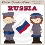 Russian Kids - Clip Art