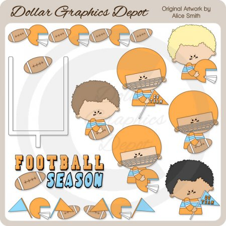 Football - Orange - Clip Art