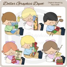 Father's Day Kids - Clip Art - *DGD Exclusive*