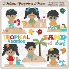Tropical Vacation 2 - Clip Art