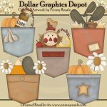 Fall Pockets - Clip Art