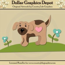 Heart Puppy - Cutting Files / Paper Piecing Patterns