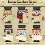 Nutcracker Tags - Clip Art