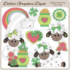 Irish Sheep - Clip Art