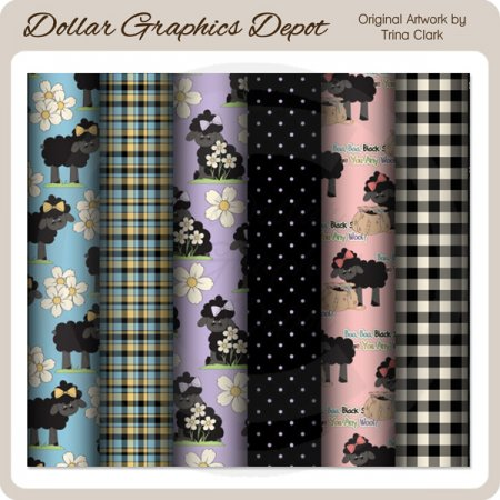 Baa Baa Black Sheep - Scrap Papers