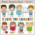 Little Library Kids - Clip Art