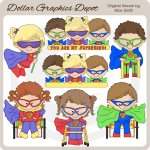 Capable Kids Superheroes - Clip Art - *DGD Exclusive*