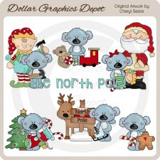 Koala Cuties - North Pole - Clip Art