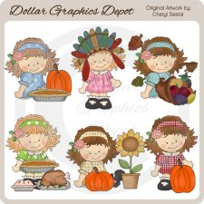 Betty Sue Gives Thanks - Clip Art