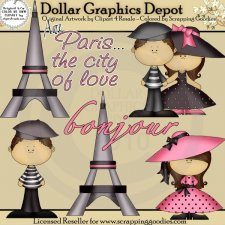 Paris Love - Clip Art