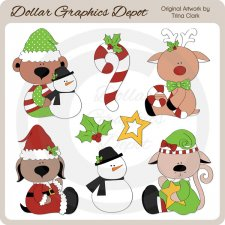 Santa's Friends - Clip Art