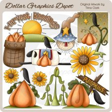 Harvest Blessings - Clip Art