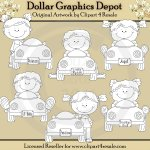 Toy Car Toddlers - Digital Stamps - *DGD Exclusive*