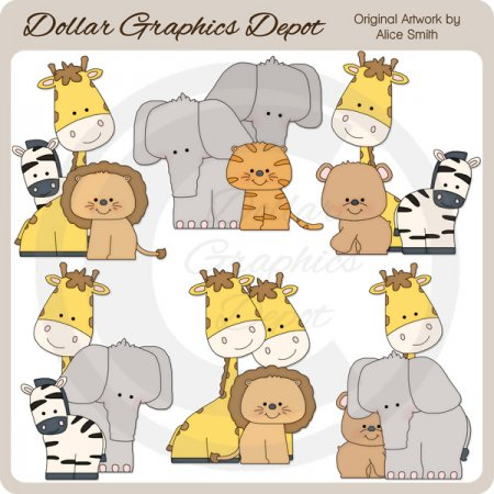 Safari Animals - Clip Art - *DGD Exclusive*