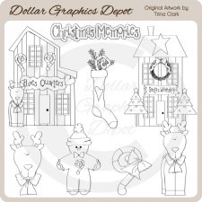 Christmas Town 1 - Digital Stamps