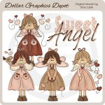 Sweet Valentine Angels 1 - Clip Art