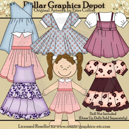 Dress Up Doll Clothes 3 - Clip Art