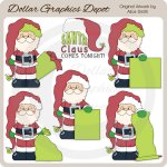 Santa Claus Messages - Blank- Clip Art