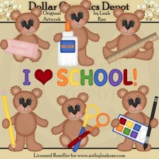 School Bears 2 - Clip Art