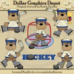 Hockey Bears - Clip Art
