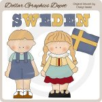 Swedish Kids - Clip Art