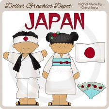 Japanese Kids - Clip Art