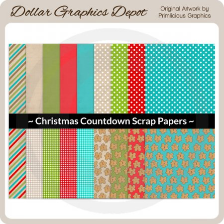 Christmas Countdown - Scrap Papers