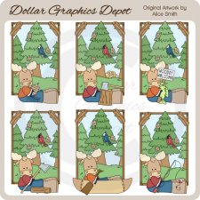 Woodsy Moose - Clip Art - *DGD Exclusive*