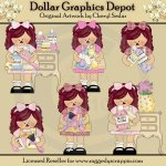 Girly Girl Annies - Clip Art - *DGD Exclusive*