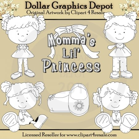 Momma's Lil Princess - Digital Stamps - *DGD Exclusive*