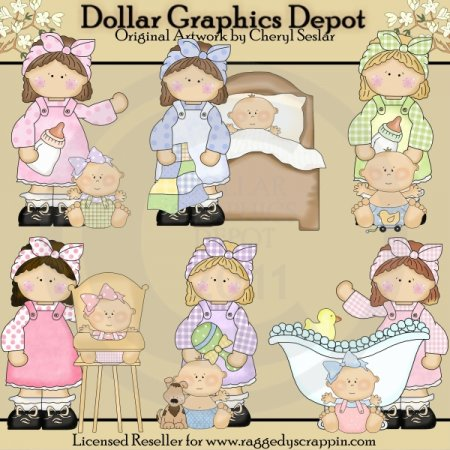 Little Darlins - Mommas - Clip Art