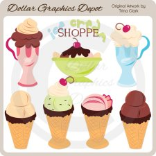 Ice Cream Shoppe - Clip Art