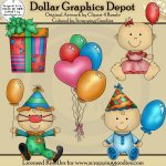 Birthday Babies 1 - Clip Art