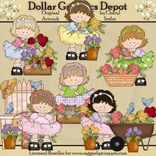 Happy Hildy - Pretty Flowers - Clip Art