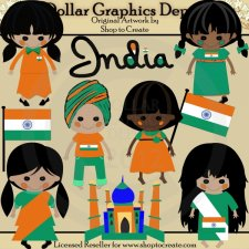 Indian Dolls - Clip Art