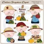 Fall Piggies - Clip Art - *DGD Exclusive*