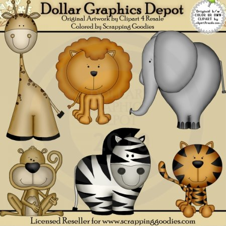Zoo Animals - Clip Art