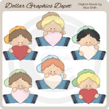 Hearts Of Love - Boys - Clip Art - *DGD Exclusive*