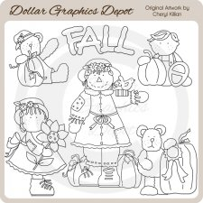 Fall Bumpkins - Digital Stamps