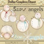 Snow Angels 1 - Clip Art