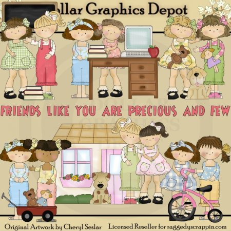 Best Of Friends - Clip Art