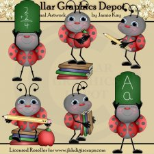 School Ladybugs - Clip Art
