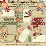 Miss Ginger - Christmas Tags - Clip Art