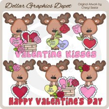 Little Valentine Moose - Clip Art