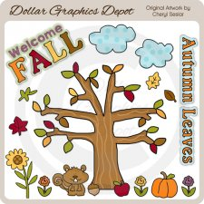 Welcome Fall 1 - Clip Art
