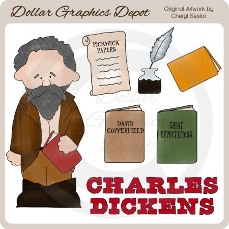 Charles Dickens - Clip Art