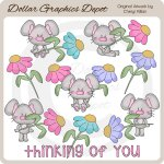 Flower Mice - Clip Art