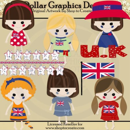 British Dolls - Clip Art
