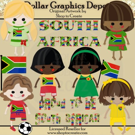 South African Dolls - Clip Art